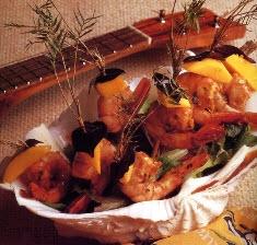 Sam Choy Lilikoi Mango Shrimp