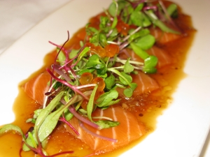 Fresh Salmon Asian Carpaccio